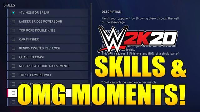 WWE 2K20: All Skills & OMG Moments: Full List and How To Perform Them