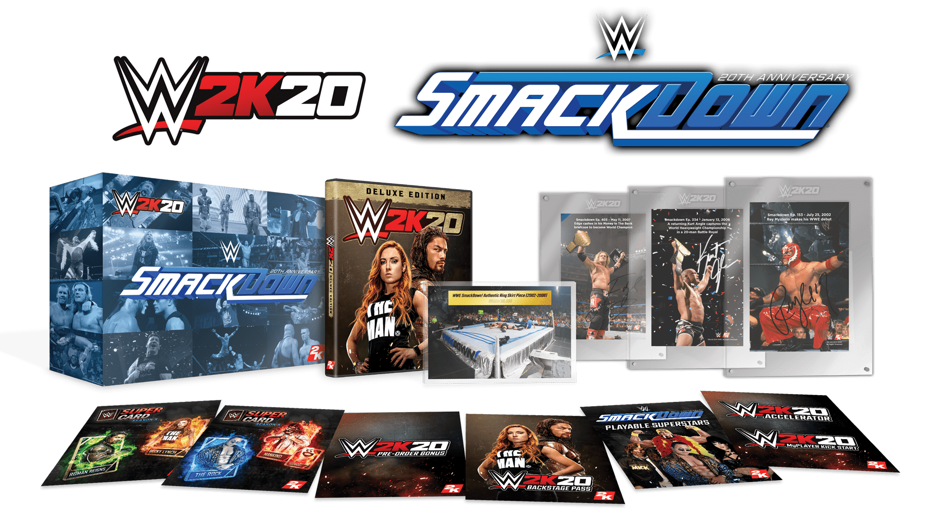 wwe 2k20 collectors edition content smackdown 20 anniversary