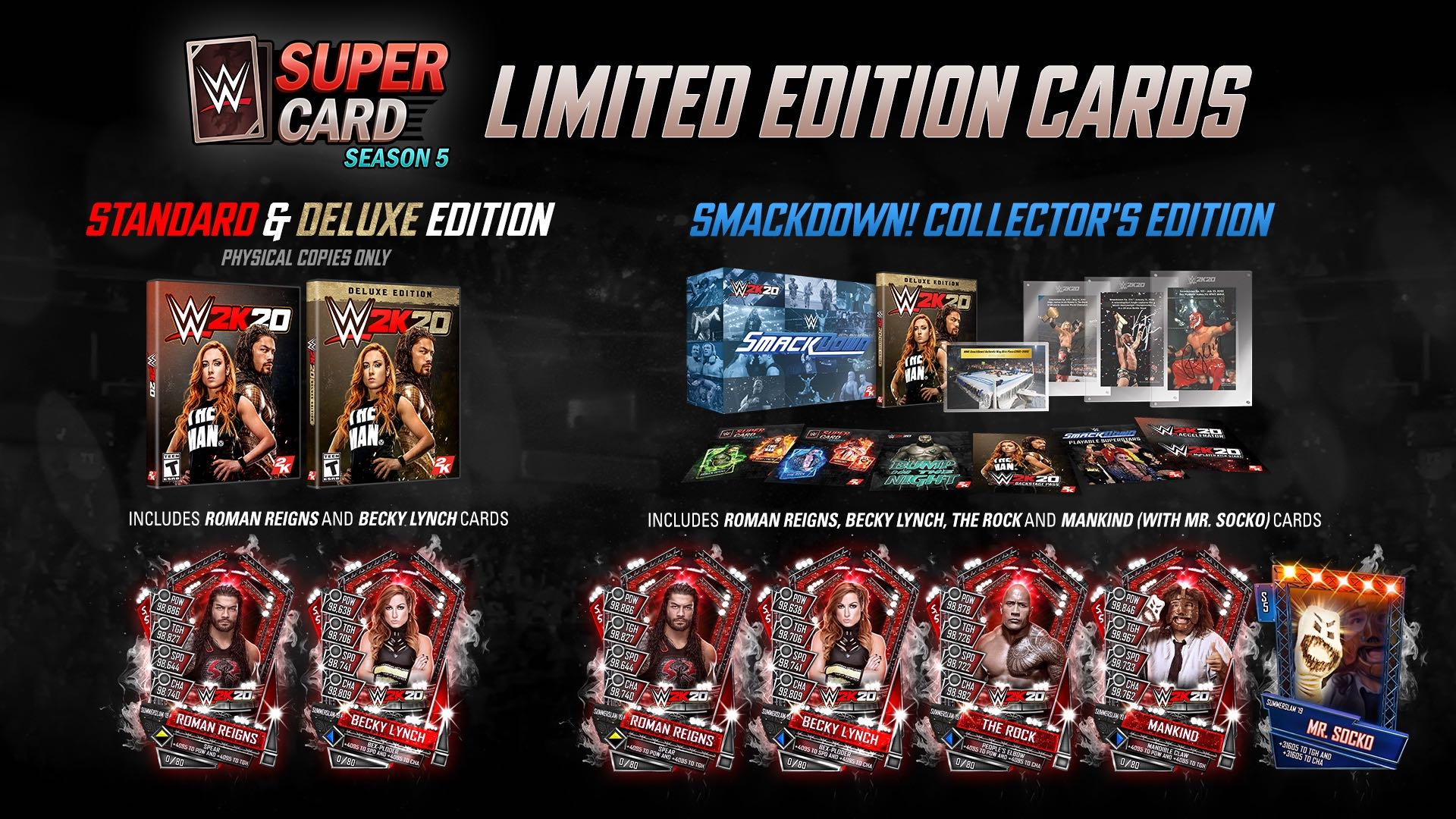 wwe 2k20 collectors edition content supercard cards