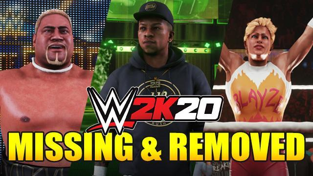 List of Missing and Removed Superstars from WWE 2K20 Roster - Full Analysis