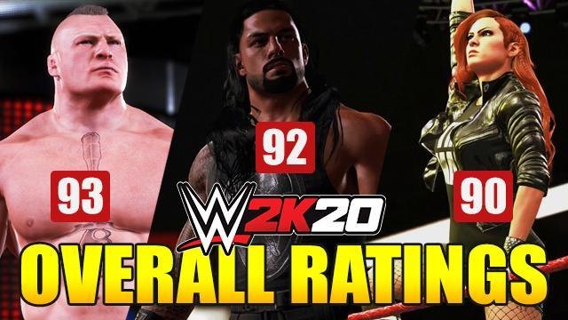 WWE 2K20 Overall Ratings: Full List of Superstars Ranked by Best Overall