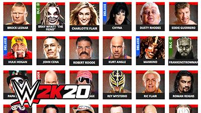 WWE 2K20 Roster Page Superstars